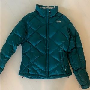 North Face Puffer Jacket- Teal- Size Medium